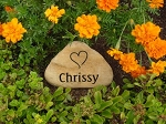 River Rock Garden Stone 7 - 9 inch Personalized