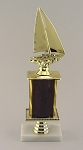 Sailboat Regatta Trophy with Marble Base Engraving Included