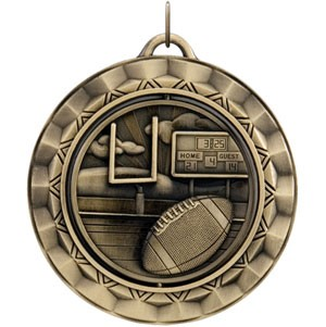FOOTBALL Spinning Medal