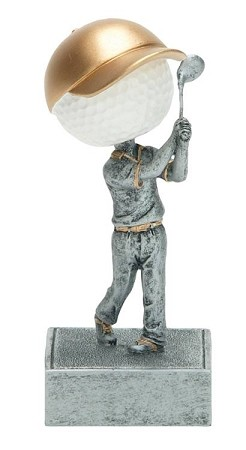GOLF Bobblehead Resin Award