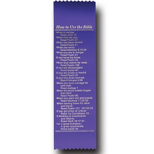 "How To Use The Bible Satin Ribbon Bookmark 2"" x 9"" Promotional Bookmarks"